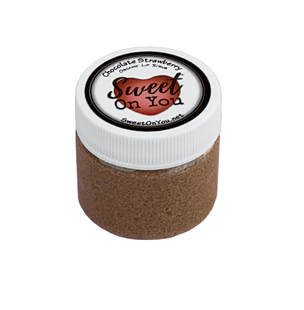 Organic Lip Scrub Chocolate Strawberry