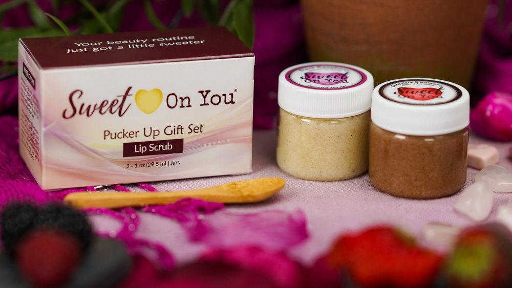 Luxury Lip Scrub Gift Set for Dry, Chapped Lips