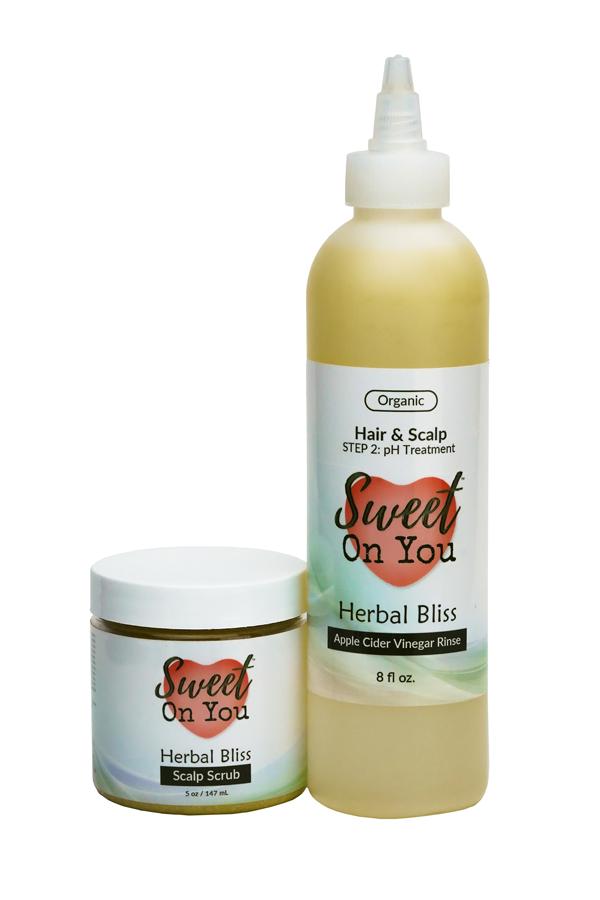 apple cider vinegar luxury scrub hair rinse soft detangler