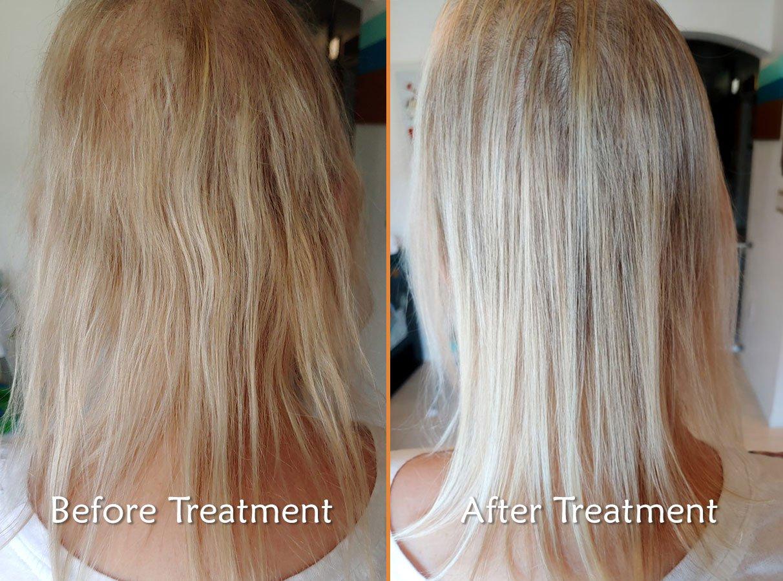 ACV Hair Rinse Treatment Example